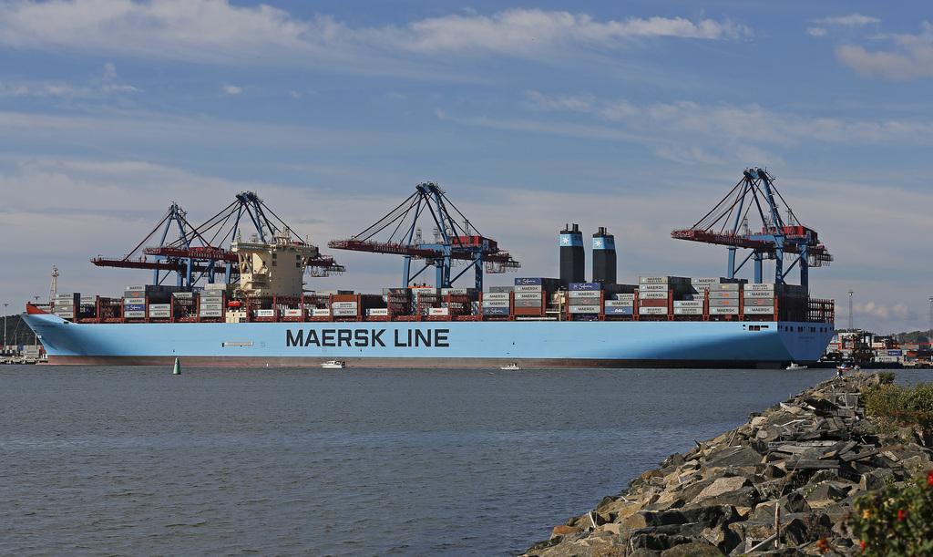 Fartyg stora containerfartyg