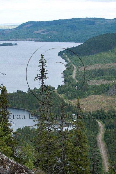 Utsikt över Ströms Vattudal, Jämtland