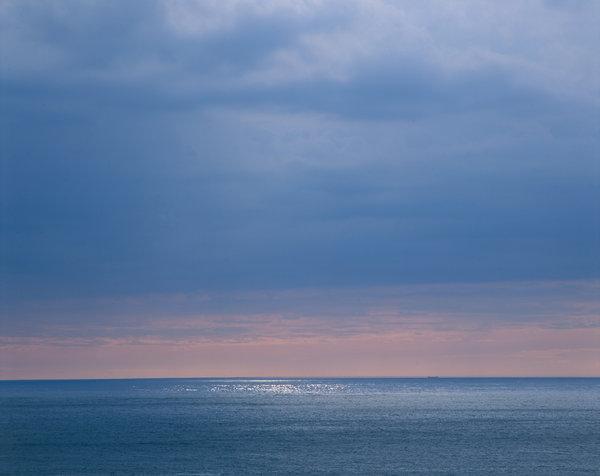 Solglitter på Atlanten.