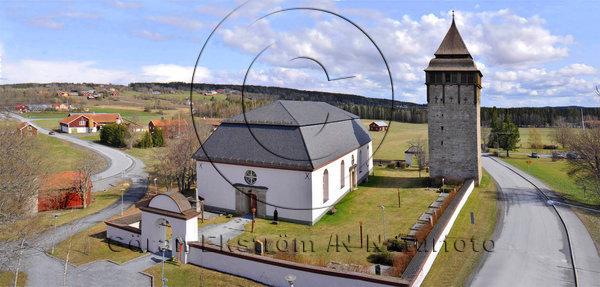 Brunflo kyrka, med kastalen, Jämtland.