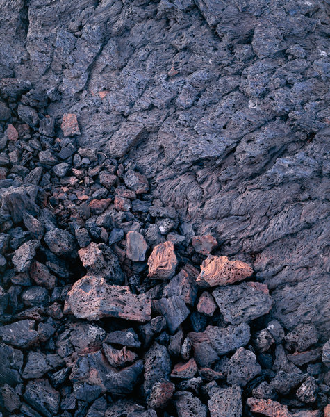 Formationer av stelnad lava.