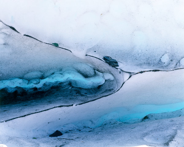 Isformationer vid Portage glaciären.