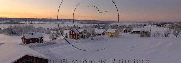 Vinterskymning över Storsjön, Jämtland.
