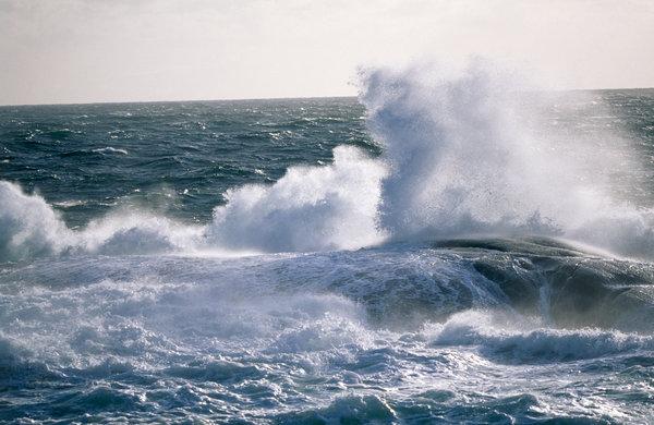 Storm på havet.
