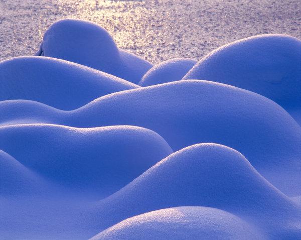 Snöformationer.