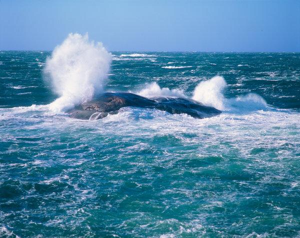 Stormvågor på havet.