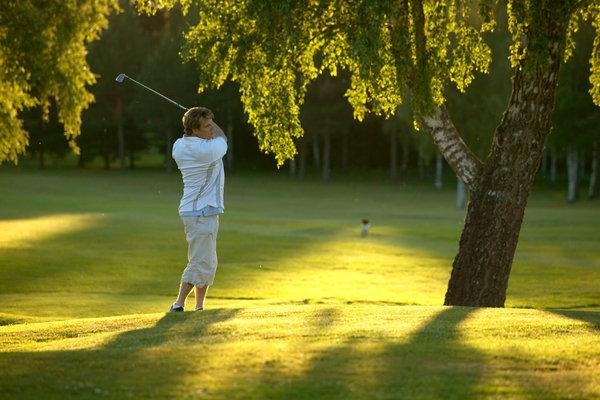 Golfspelare.