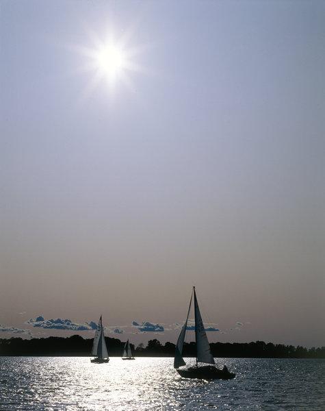 Segelbåtar.