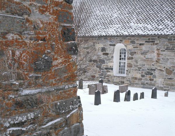Kyrkogård vid Åre kyrka.