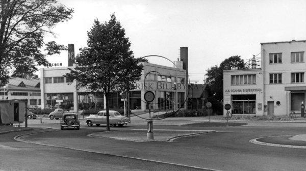 Hedbergs Bil AB på Lundavägen i Malmö 1952