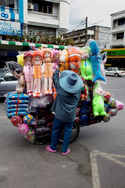 Gatuförsäljare.