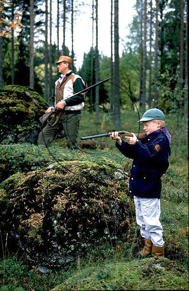 Jakt med yngre elev
