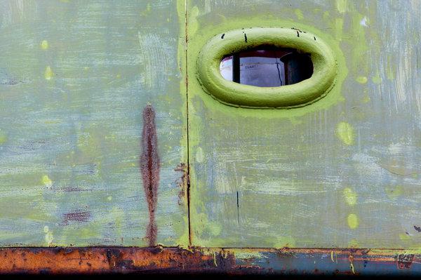 Fönster på båt.