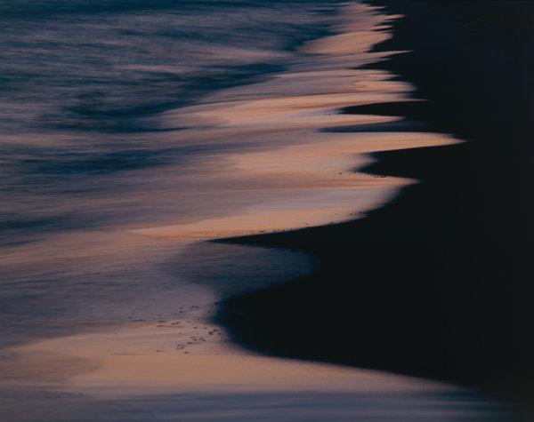 Ljus på vågor.