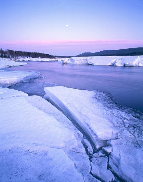 Vinter vid Piteälven.