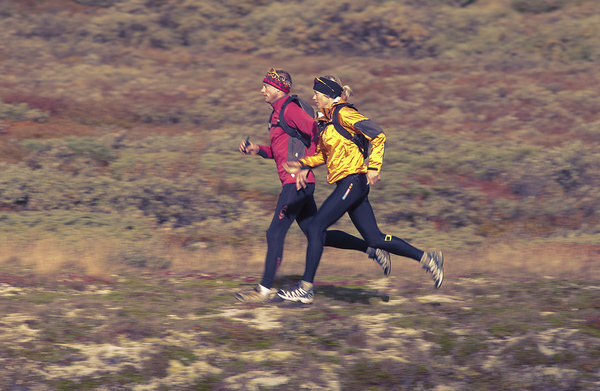 Trailrunning i höstlandskap